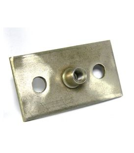 Rectangular Base Plate (M6) for 1205 Series pipe clips T304 Stainless Steel