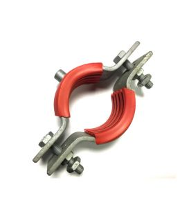 Galvanised Mild Steel Munsen type bossed pipe Pipe clip M10 boss for 80 NB Pipe (OD 88.9)