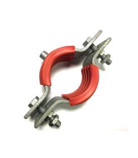 Galvanised Mild Steel Munsen type bossed pipe Pipe clip M10 boss for 40 NB Pipe (OD 49 mm)