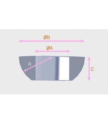 M8 hemispherical washer T316 Stainless steel