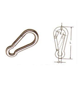 8mm STAINLESS STEEL 316 (A4) Spring Hook / carabiner