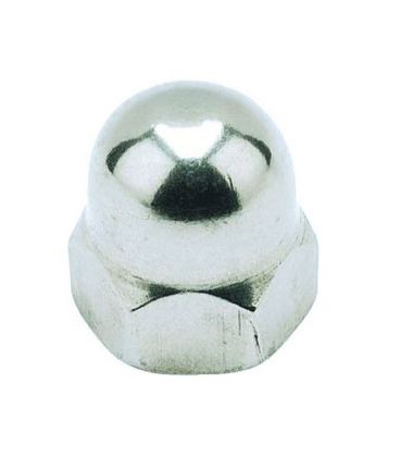 M8 Hexagon Dome Nut - A4 Stainless Steel DIN1587
