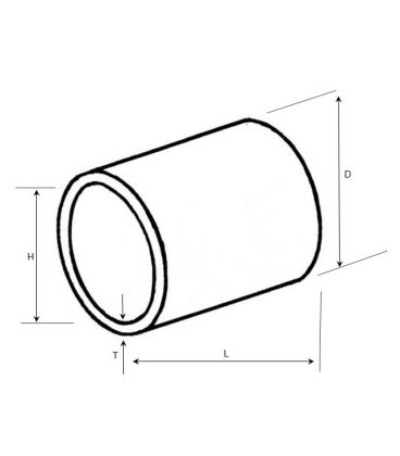 Non threaded spacer / washer 12.8 mm ID 10 mm length - Nylon