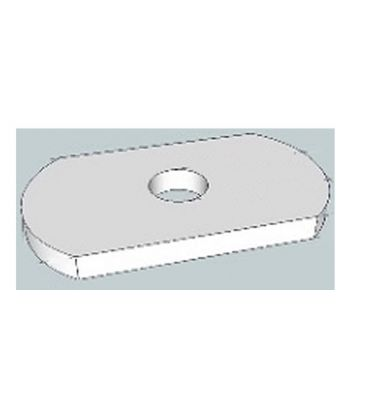 M6 single Hole Plate /washer for Channels T316 Stainless Steel 25 mm wide