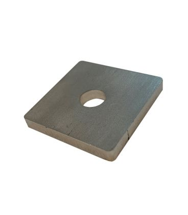 M14 single Hole Plate / washer T316 Stainless Steel 50x50x6 mm
