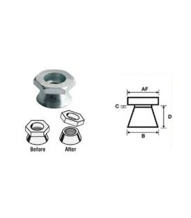 M10 Shear Nut A4 stainless steel (Permacone - snapoff - Security - Tamper Proof)