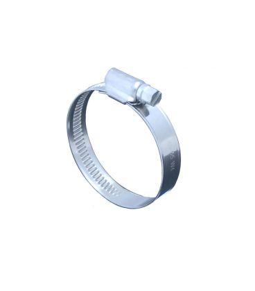 Stainless Steel jubilee type clip - worm gear - 40-60mm