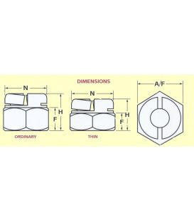 Aerotight M6 A2 Stainless steel Self-Locking Nut