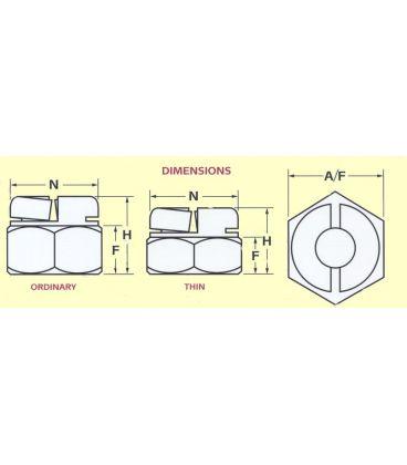 Aerotight M16 A2 Stainless steel Self-Locking Nut