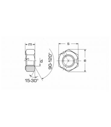 M10 A4 Stainless steel prevailing torque self lock nut DIN980