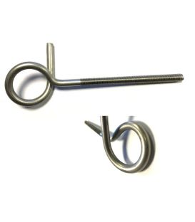Pigtail Eyerod / Eyebolt / Anchor Bolt T304 (A2) Stainless Steel
