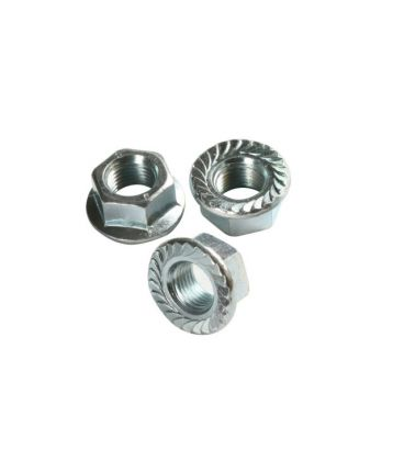 M10 - A4 (T316) Stainless Steel Serrated Flange Nut - DIN 6923