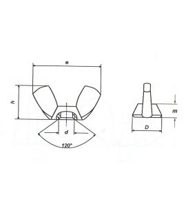 M4 Wing Nut - A4 Stainless Steel DIN315