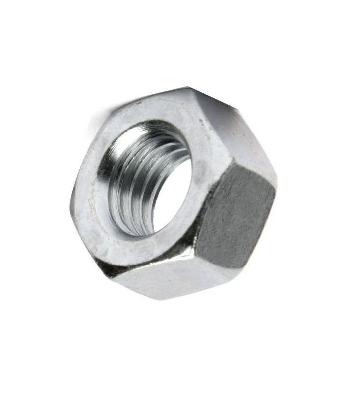 Bright Zinc Plated 5 x Metric Hexagonal M6 Steel Nuts Standard Pitch