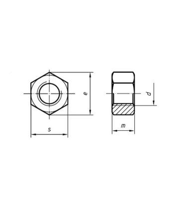 M20 hex Nut - Bright Zinc Plated (BZP) DIN934