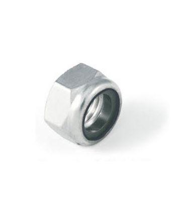 M6 Nylon Insert Lock Nut Nyloc Type - Bright Zinc Plated (BZP) DIN985