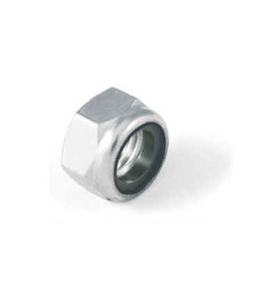 M4 Nylon Insert Lock Nut Nyloc Type - Bright Zinc Plated (BZP) DIN985