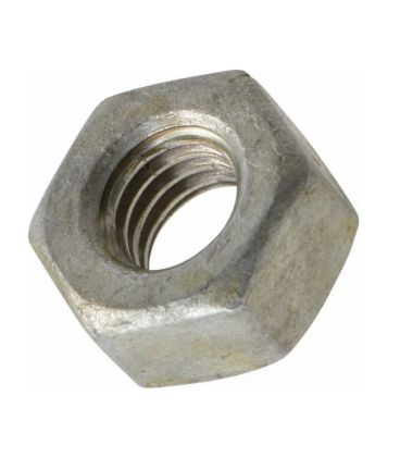 UNC Hex Nut 3/8 inch  - Galv Mild Steel - BS 1768 - Tapped Oversize