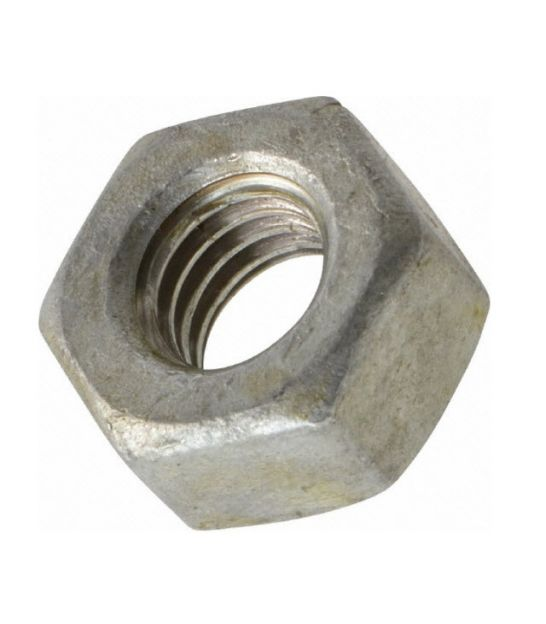 UNC Hex Nut 3/4 inch  - Galv Mild Steel - BS 1768 - Tapped Oversize