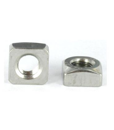 M10 Chamfered Square Nut Zinc Plated Mid Steel Steel Din 557