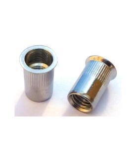 M10 Knurled body countersunk head blind rivet nut - Zinc Plated Mild Steel