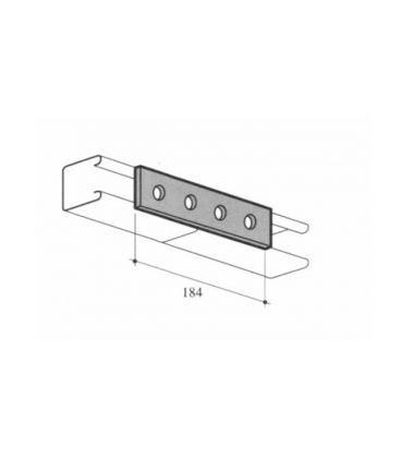 M12 Four Hole fixing Plate for Channels T304 Stainless Steel (As Unistrut / Oglaend)