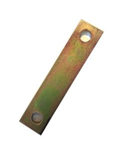 Backing plate for M8 U-Bolt 81 mm Inside diameter Yellow Zinc Plated
