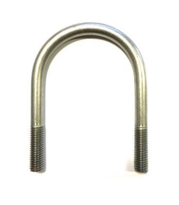 U-Bolt M8 x24 mm Thread, 40 mm Inside Diam, 64 mm Inside Height T304 Stainless Steel