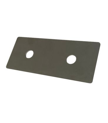 Backing plate For M6 U-Bolt 74 mm Hole Centres T304 (A2) Stainless Steel 8 mm hole 40 * 3 * 98 mm