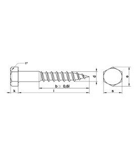 Hexagonal head woodscrew 5 x 30mm (A2 stainless Steel) DIN571