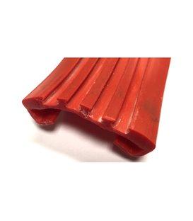 Flame Retardant Anti-Vibration Rubber Lining - clip strip - to suit Flat Bar