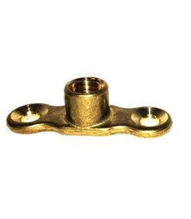 Cast Brass Back Plates for munsen ring - M10 Boss - Male & Female