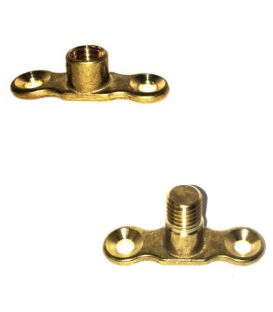 Cast Brass Back Plates for munsen ring - M10 Boss - Male & Female