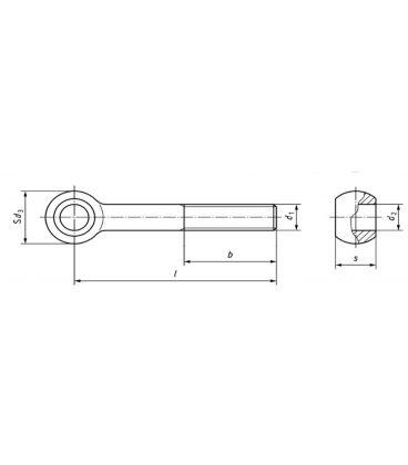EyeRod Eyepin Swing Bolt - T304 (A2) Stainless Steel - DIN 444