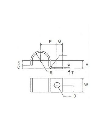 Half Saddle / P Clamp / Tube Clip / fixing clip - Various sizes and Materials