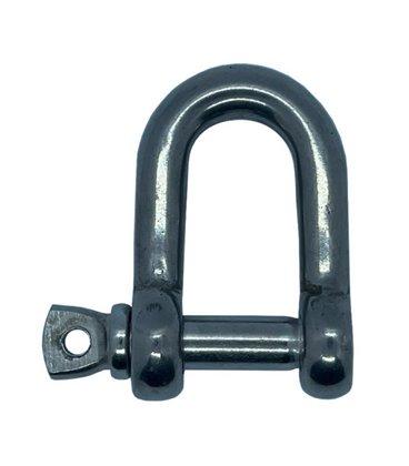 D / Dee Shackle - Metric - T316 (A4) Marine Grade Stainless Steel