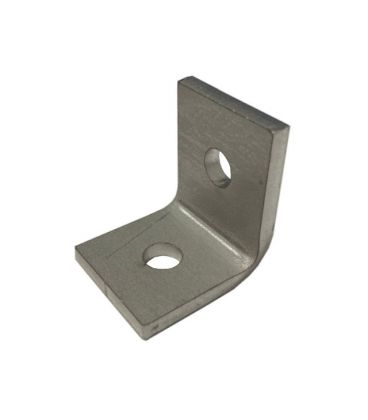 Two (2) Hole Angle Plate (P1068 90-Degree Fitting) for Channels T304 Stainless Steel (As Unistrut / Oglaend)