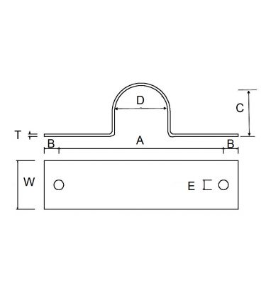 Anchor Clamp to Suit Stainless Steel Metric Pipe