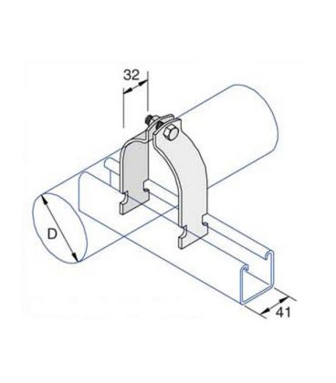 Space Saver Clip For Use With Unistrut / Oglaend Channels Stainless Steel