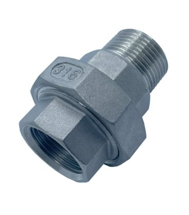 Conical Union BSP Male - Female A4 (T316) marine Grade Stainless Steel