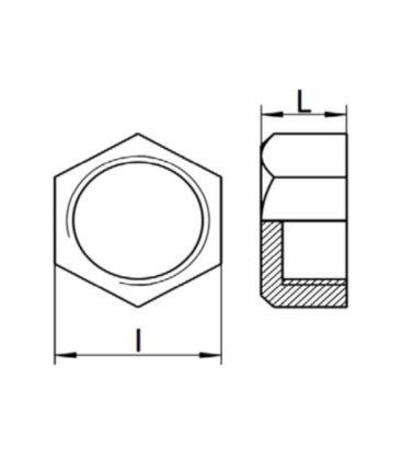 BSP Female Hexagon Blank Cap / Cup - T316 (A4) Marine Grade Stainless Steel