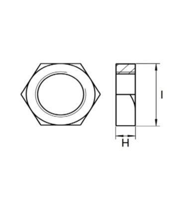 BSP Hexagon Lock Nut / Back Nut T316 (A4) Marine Grade Stainless Steel - Parallel Threads (BSPP / G Thread)