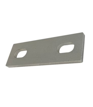 Slotted backing plate for M12 U-bolt (76 - 106 mm ID) T316 Stainless Steel