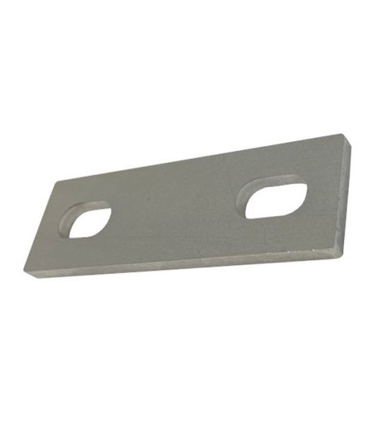 Slotted backing plate for M10 U-bolt (25 - 41 mm ID) T316 Stainless Steel