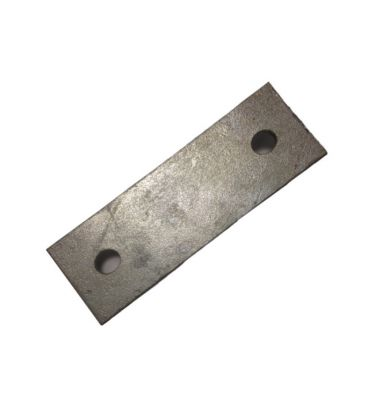 Backing plate 124 mm centers for 80 NB u-strap - Galvanised