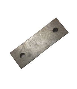 Backing plate 92 mm centers for 50 NB u-strap - T316 Stainless Steel