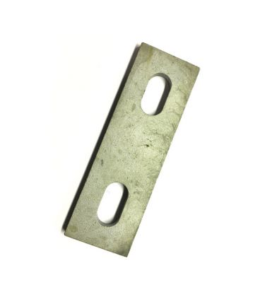 Slotted backing plate for M6 U-bolt (40 - 52 mm ID) Galvanised Mild Steel