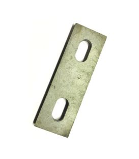 Slotted backing plate for M6 U-bolt (14 - 26 mm ID) Galvanised Mild Steel