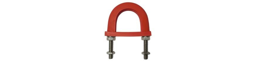 Light Duty Anti-Vibration U-Bolts - Stainless Steel and galvanised- Flame Retardant