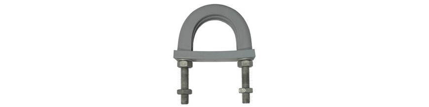 Light Duty Anti-Vibration U-Bolts - Flame Retardant - High Temperature